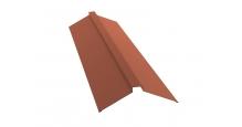 Коньки для кровли из металлочерепицы в Туле Планка конька плоского 115х30х115
