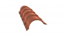 Коньки для кровли из металлочерепицы в Туле Планка малого конька полукруглого
